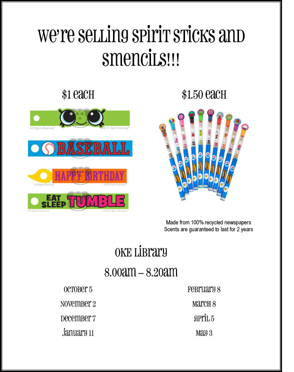 Spirit Sticks order form 2017